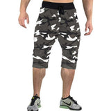 Tripr Camo Printed Men Grey,White,Black Three Fourths