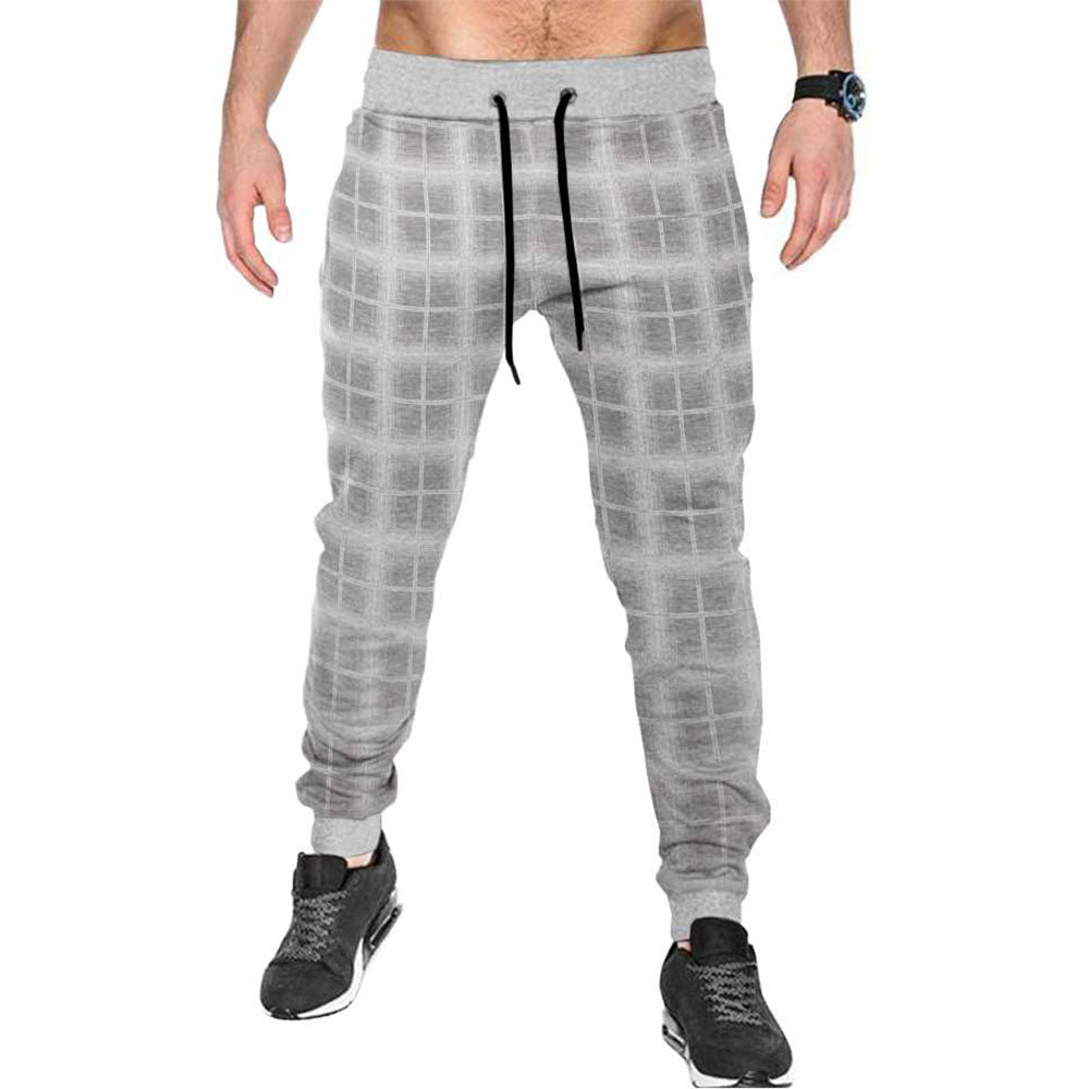 Tripr Checkered Men White, Grey Track Pants