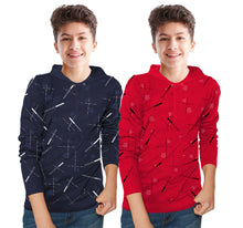 Tripr  Kids Printed Cotton Blend T Shirt  (Multicolor, Pack of 2)