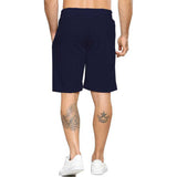 Tripr Solid Men Dark Blue Regular Shorts