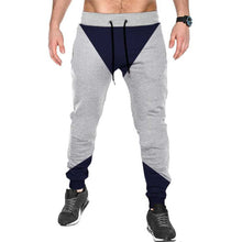 Tripr Color Block Men Grey Track Pants