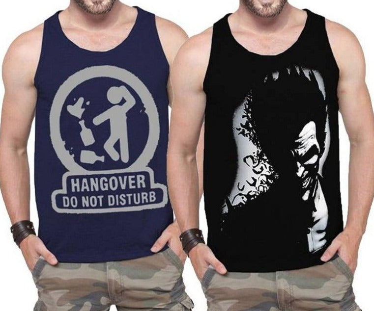 Tripr Men Tank(Pack of 2)