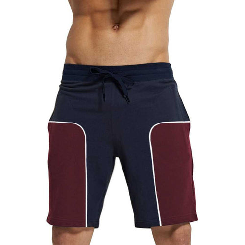 Tripr Color Block Men Navy Blue, Maroon Regular Shorts
