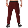 Tripr Checkered Men Red Track Pants