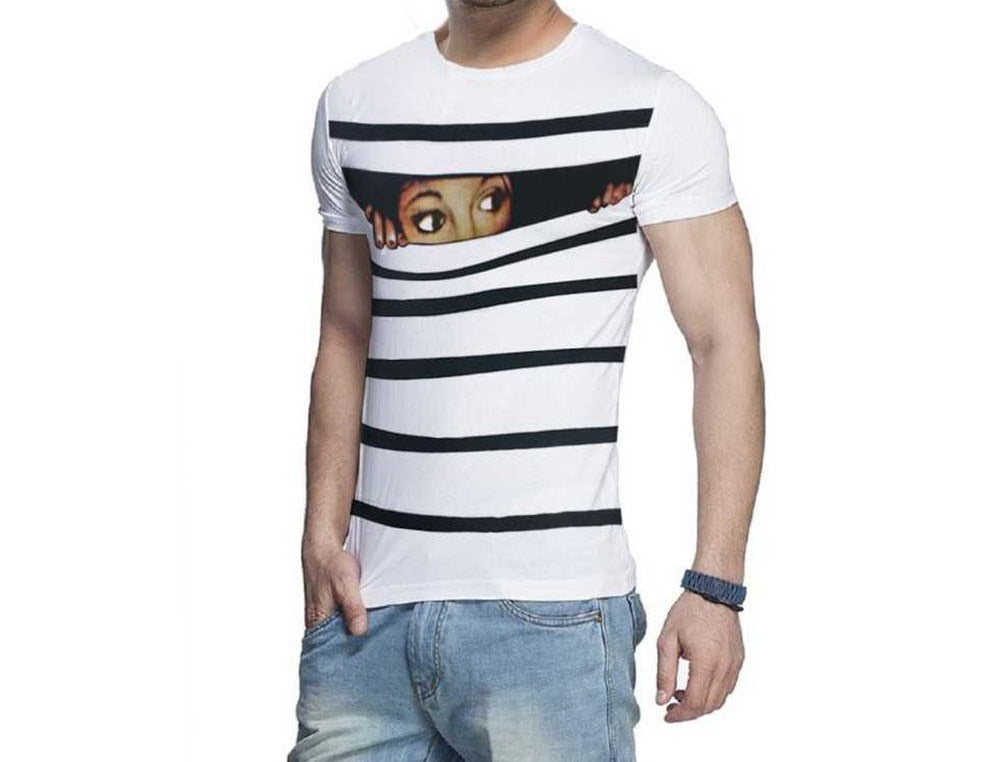 Tripr Graphic Print Men Round or Crew White T-Shirt