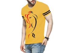 Tripr Printed Men V Neck Yellow T-Shirt