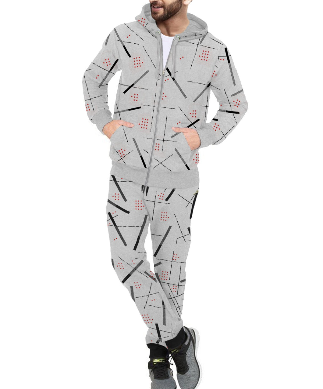 Tripr Printed Men Track Suit