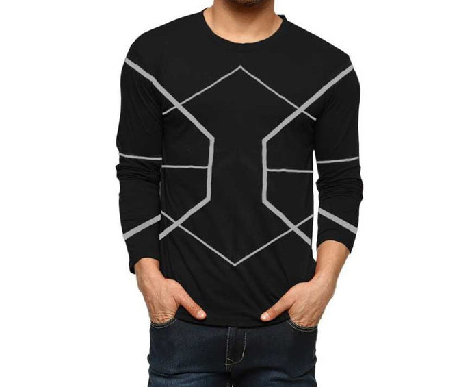 Tripr Men's Printed Round Neck Full sleeves T Shirt