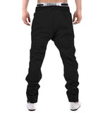 Tripr Geometric Print Men Black Track Pants