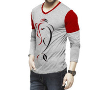 Tripr Men's V-Neck Full Sleeves Tshirt
