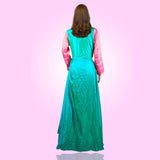 Tripr Women Embroidered gorgeous green gown