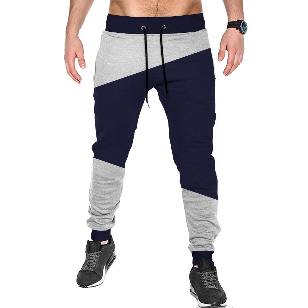 Tripr Men's Jogger Grey Navy Cut and Sew
