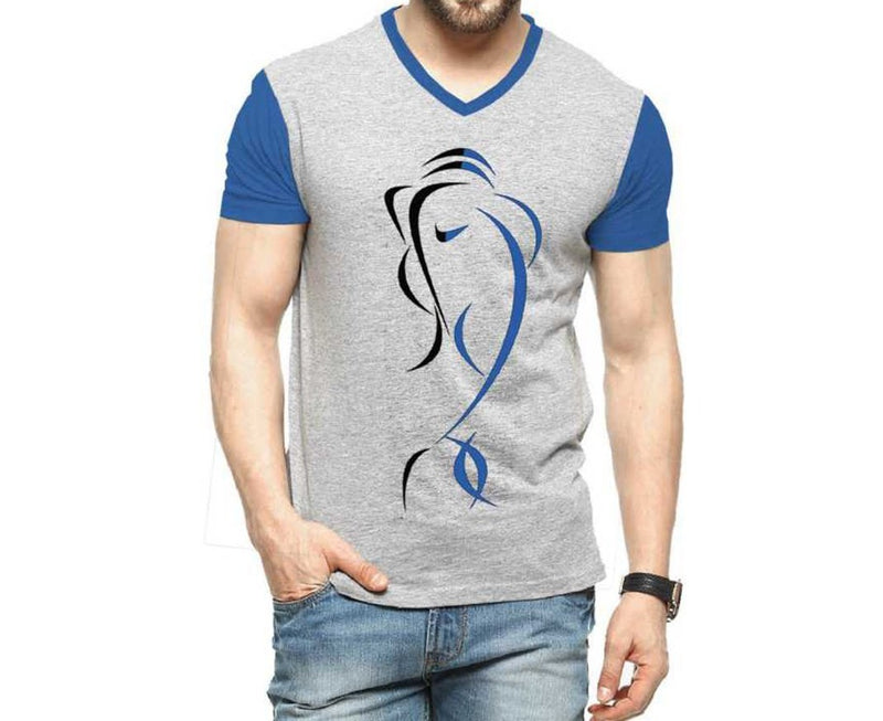 Tripr Men's Printed V-Neck Tshirt