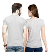 Tripr Printed Men and Women Couple Gray T-Shirt PACK of 2