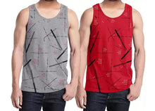 Tripr Men Vest Grey Red (Pack of 2)
