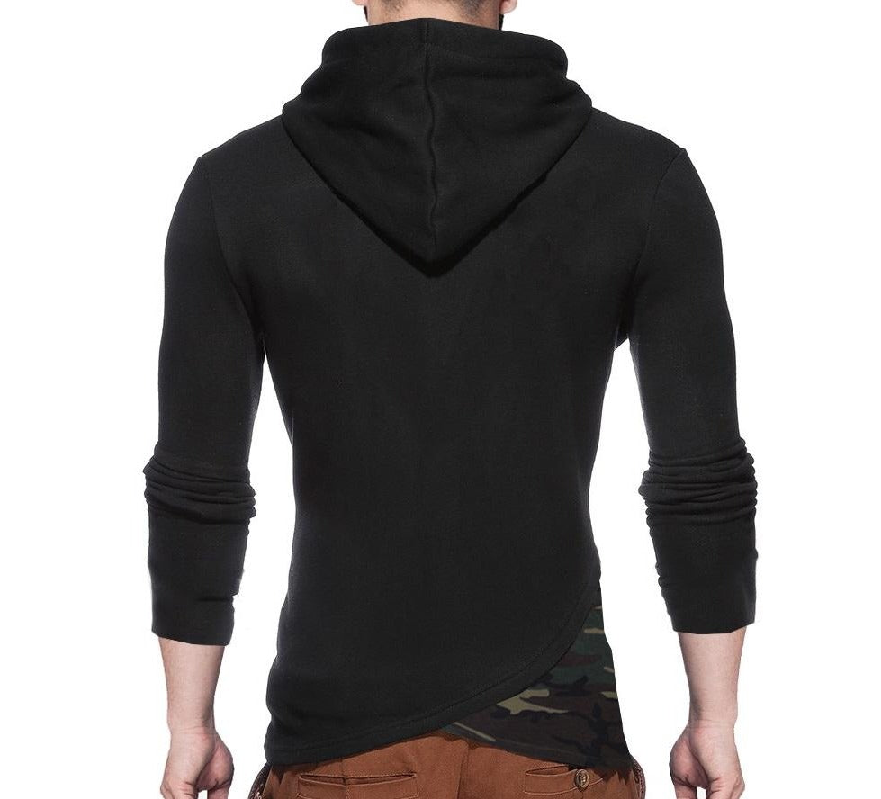 Tripr Men's Hooded Full Sleeves Tshirt