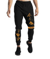 Tripr Printed Men Black Track Pants With Zipper