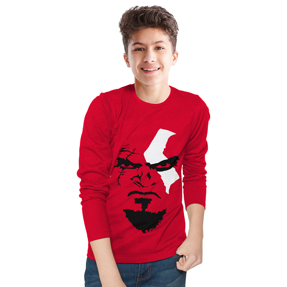Tripr kids  Printed Cotton Blend T Shirt  (Red, Pack of 1)