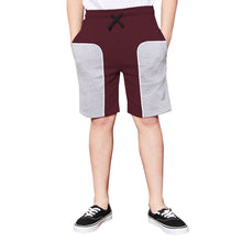 Tripr Short For  Kids Casual Solid Cotton Blend  (Maroon, Pack of 1)