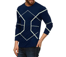 Tripr Printed Men Round Neck Dark Blue T-Shirt