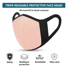 TRIPR REUSABLE COTTON WITH FOAM FACE MASK (PACK OF 100 PIECES) BLACK PINK