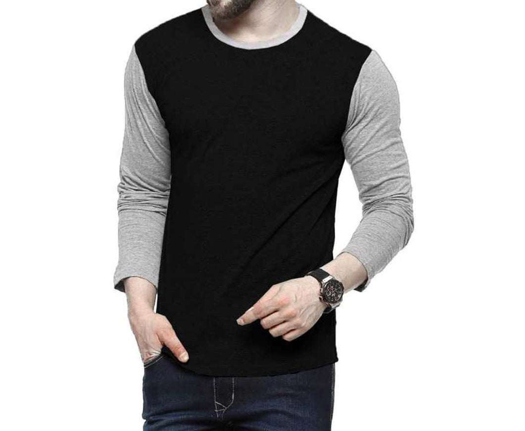 Tripr Solid Men Round Neck Black T-Shirt