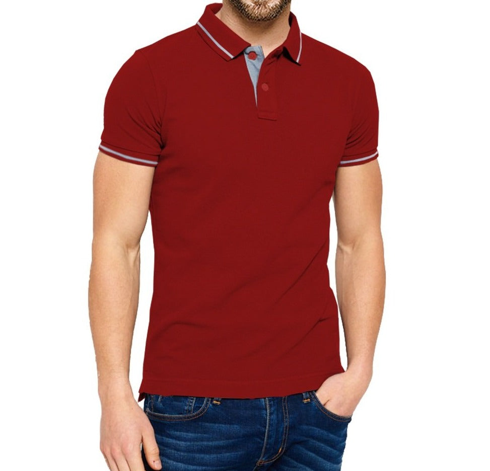 9d5a6f4bb Tripr Solid Men Polo Neck Red T-Shirt – TRIPR