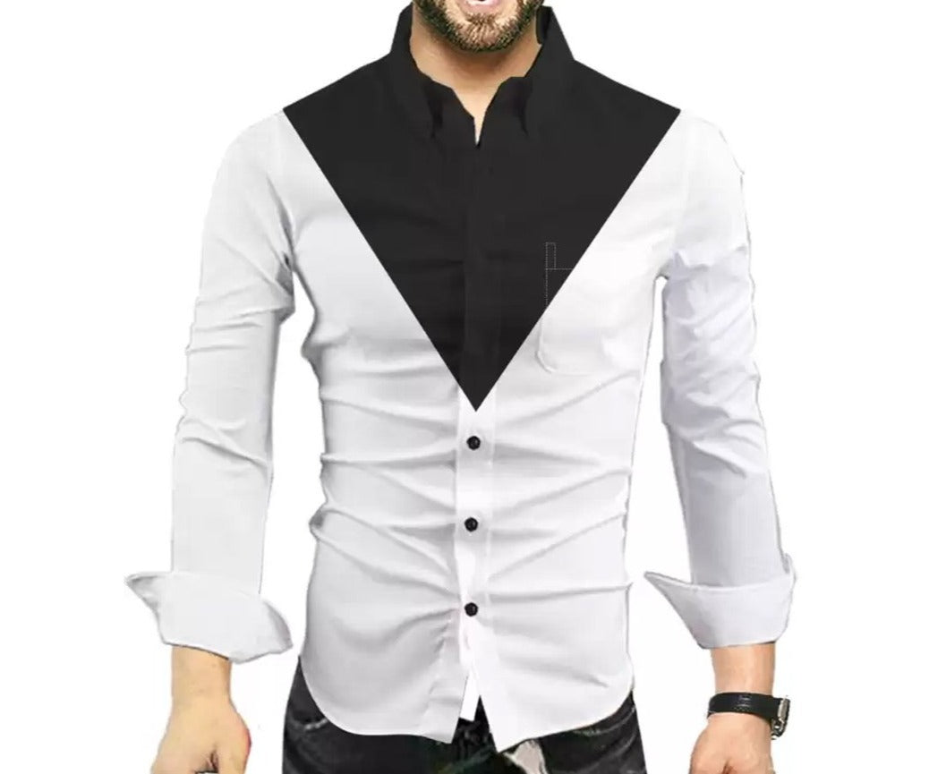 Men Solid Casual Shirt White