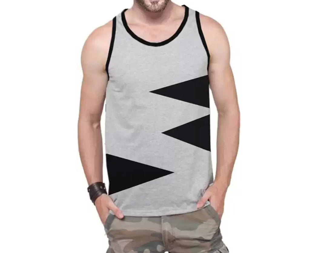 Tripr Men Vest Grey