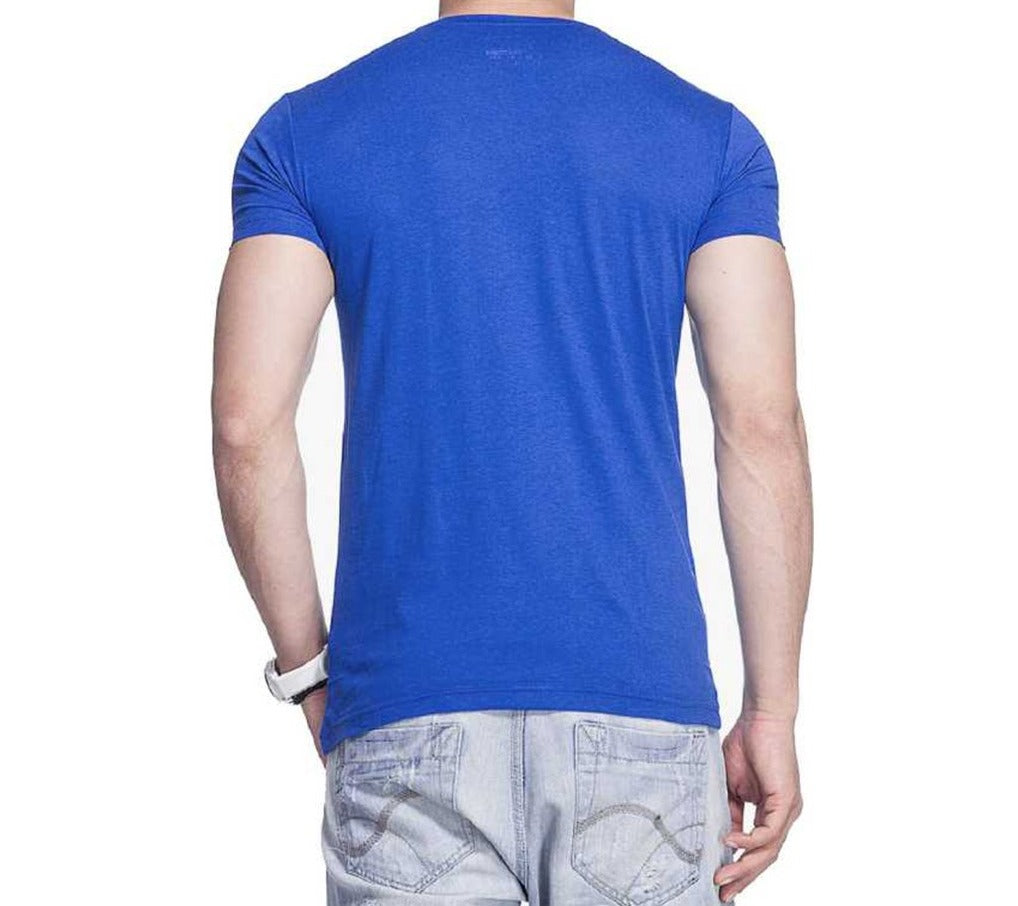 Tripr Men's V-Neck Tshirt Royalblue