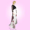 Tripr Women white floral Gown With black  jacket
