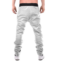 Geometric Print Men Grey Track Pants