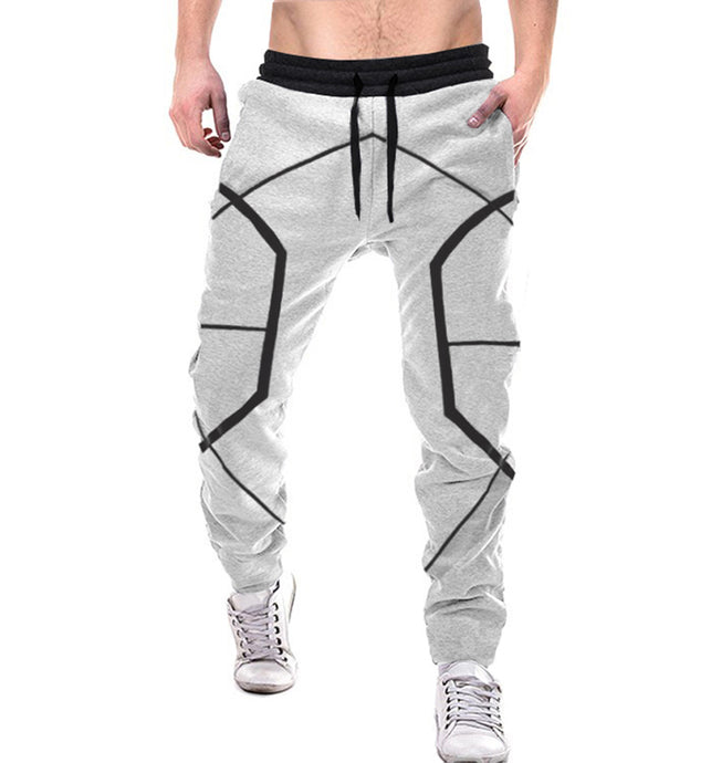Tripr Geometric Print Men Grey Track Pants