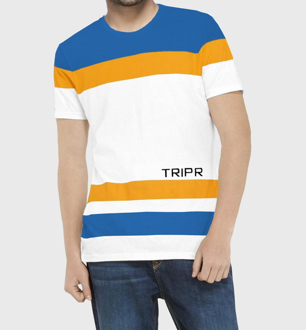 Tripr Color Block Men Round Neck Multicolor T-Shirt