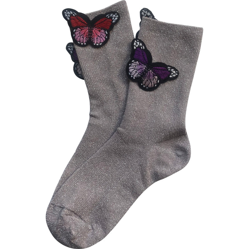 Lux Hosery - Glitter Butterfly Ankle Socks