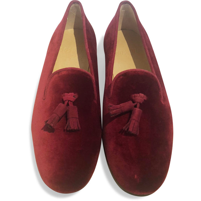 The Bosque Smoking Loafer - Velvet Burgandy
