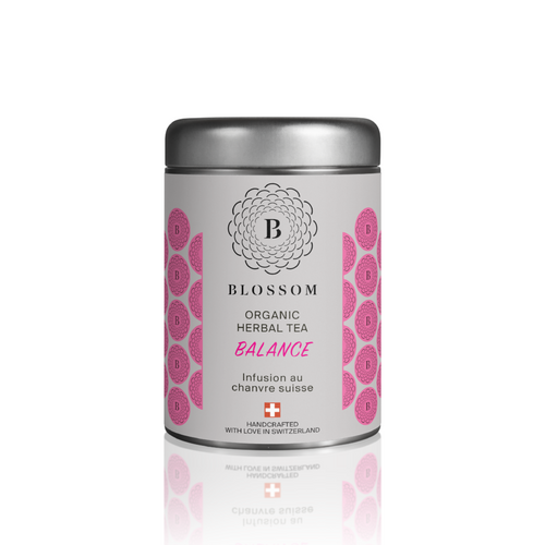 Organic Herbal Tea with Swiss hemp - BALANCE - Blossom Swiss