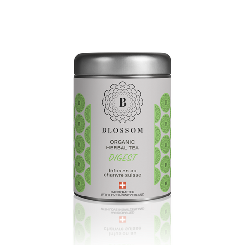 Organic Herbal Tea with Swiss hemp - DIGEST - Blossom Swiss