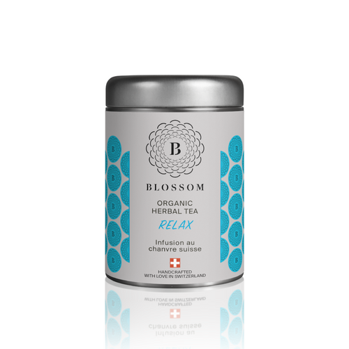 Organic Herbal Tea with Swiss hemp - RELAX - Blossom Swiss