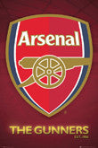 Arsenal Fc Posters - Logo Crest And Stadium