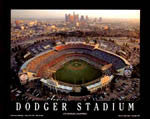 Dodger Stadium And Logo Posters