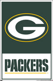 Green Bay Packers Theme Art Posters