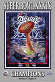 2005 Super Bowl XXXIX Patriots Eagles