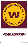 Washington Football Team Redskins Logo And Theme Art Items