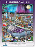 2018 Super Bowl LII (Minnesota) Posters Pennants Flags - Patriots vs Eagles