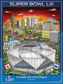 2019 Super Bowl LIII (Atlanta) Posters Pennants Flags