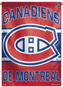 Montreal Canadiens Official NHL Hockey Team Premium 28x40 Wall Banner - Wincraft Inc.