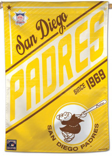 "San Diego Padres ""Since 1969"" Cooperstown Collection Premium 28x40 Wall Banner - Wincraft Inc."