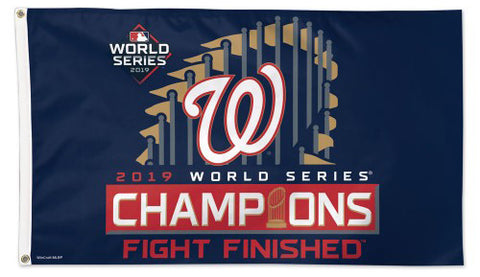 Washington Nationals 2019 World Series Champions Official MLB Baseball DELUXE 3'x5' Team Flag - Wincraft Inc.
