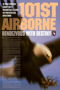 "101st Airborne ""Rendezvous with Destiny"" US Army American Military Poster - American Image"